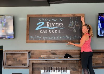 2 rivers chalkboard